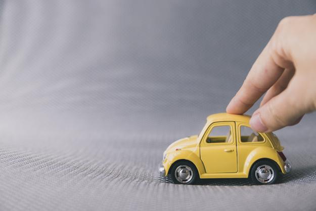 tælle gul bil leg